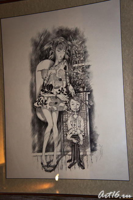 Косичка. 2009. Шадрин А.Ю. Казань::Республиканская выставка графики — 2010