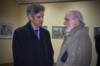 М.А. Вагапов, В.П. Аршинов. Открытие выставки  «Новая графика 2010»