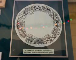 Славянский календарь с указанием месяцев сельскохозяйственных работ