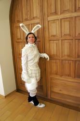 Кролик встречает гостей музея. 2010