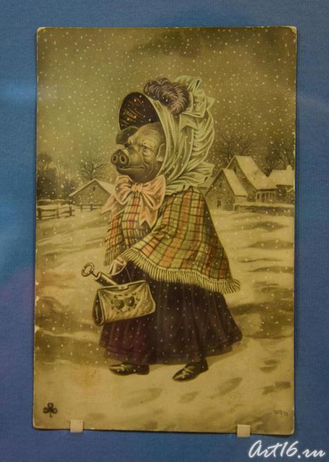 Рождественская открытка с «Хавроньей»