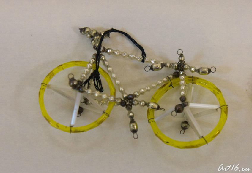 Елочная игрушка. Велосипед. (дореволюционное время)