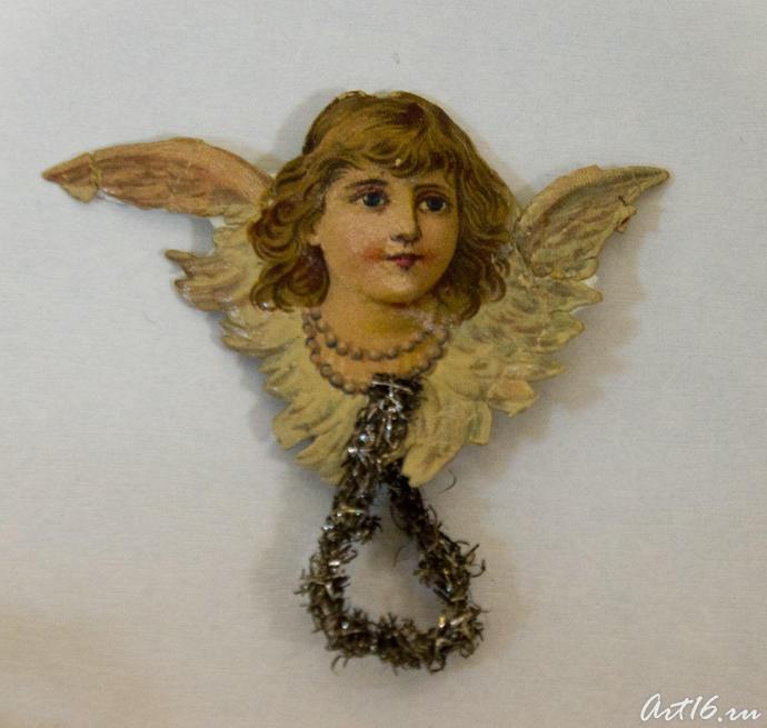 Голова Ангела. Елочное украшение (дореволюционное время)