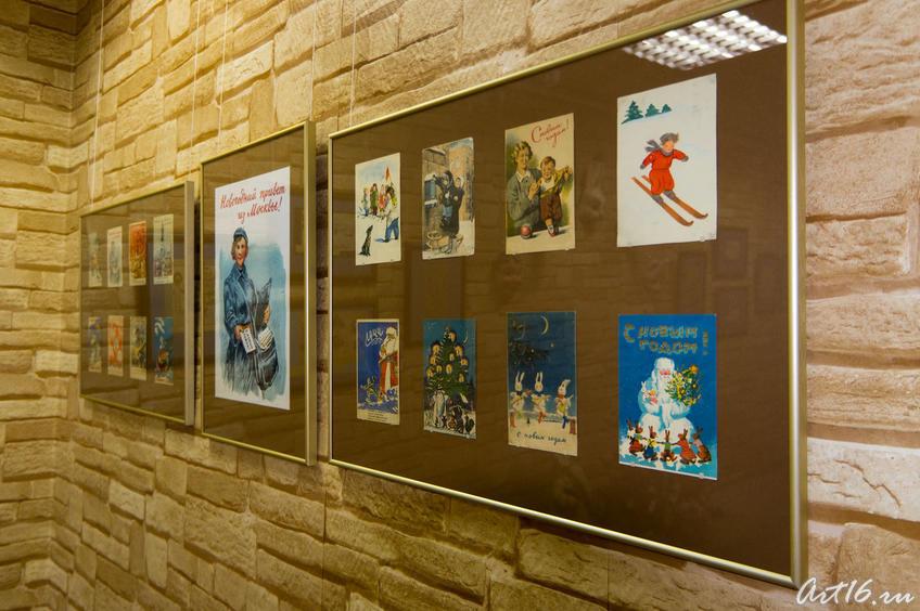 Фрагмент экспозиции «Открытки довоенного и военного периода»