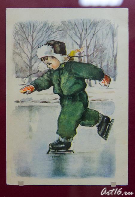 08201  Открытка 1950-х гг. ::Коллекция рождественской и новогодней открытки