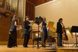 Венера Порфирьева (флейта); Юлия Виват (скрипка); Елена Бурундуковская, Зульфия Асадуллина (виолончель)