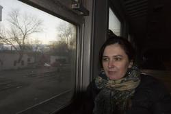 В электропоезде. Февраль 2011