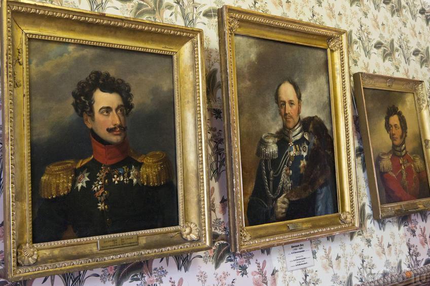 Л.А.Нарышкин / А.Х,Бенкендорф / В.П.Уваров (портреты. выполнены Дж. Доу)