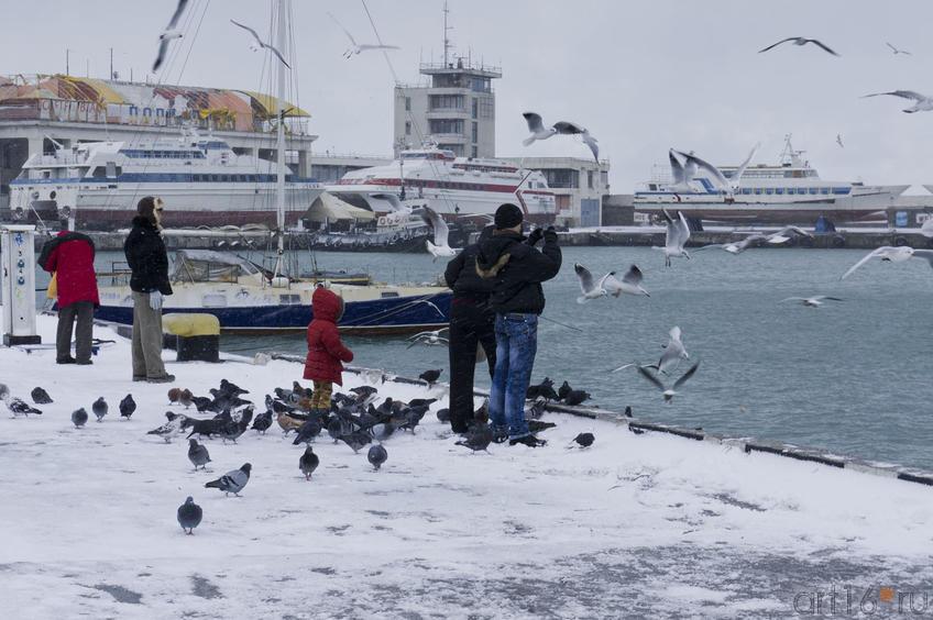 На зимней пристани Ялты