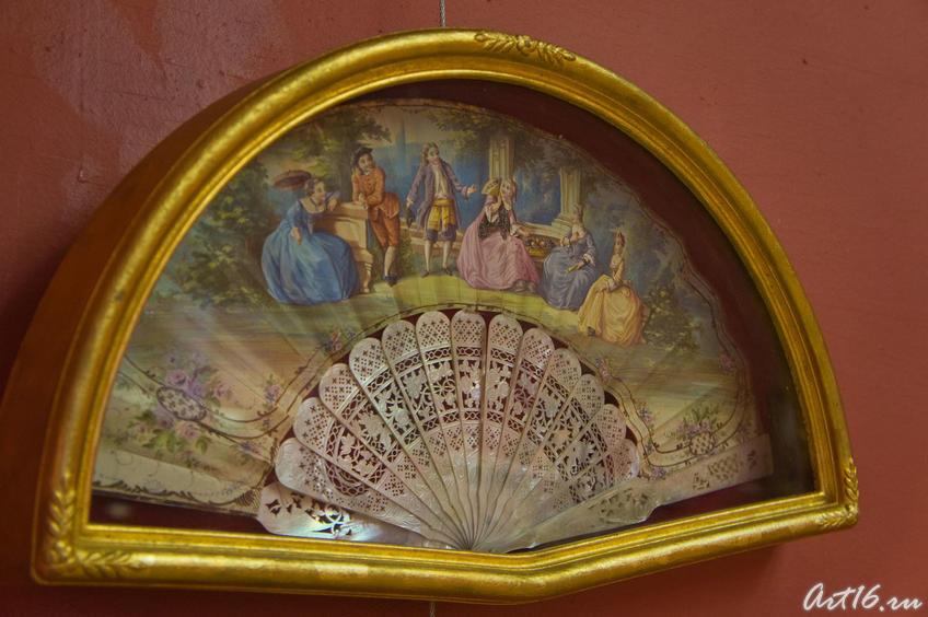 Фото №72536. Веер с изображением галантной сцены. Кон. XVIII. Франция