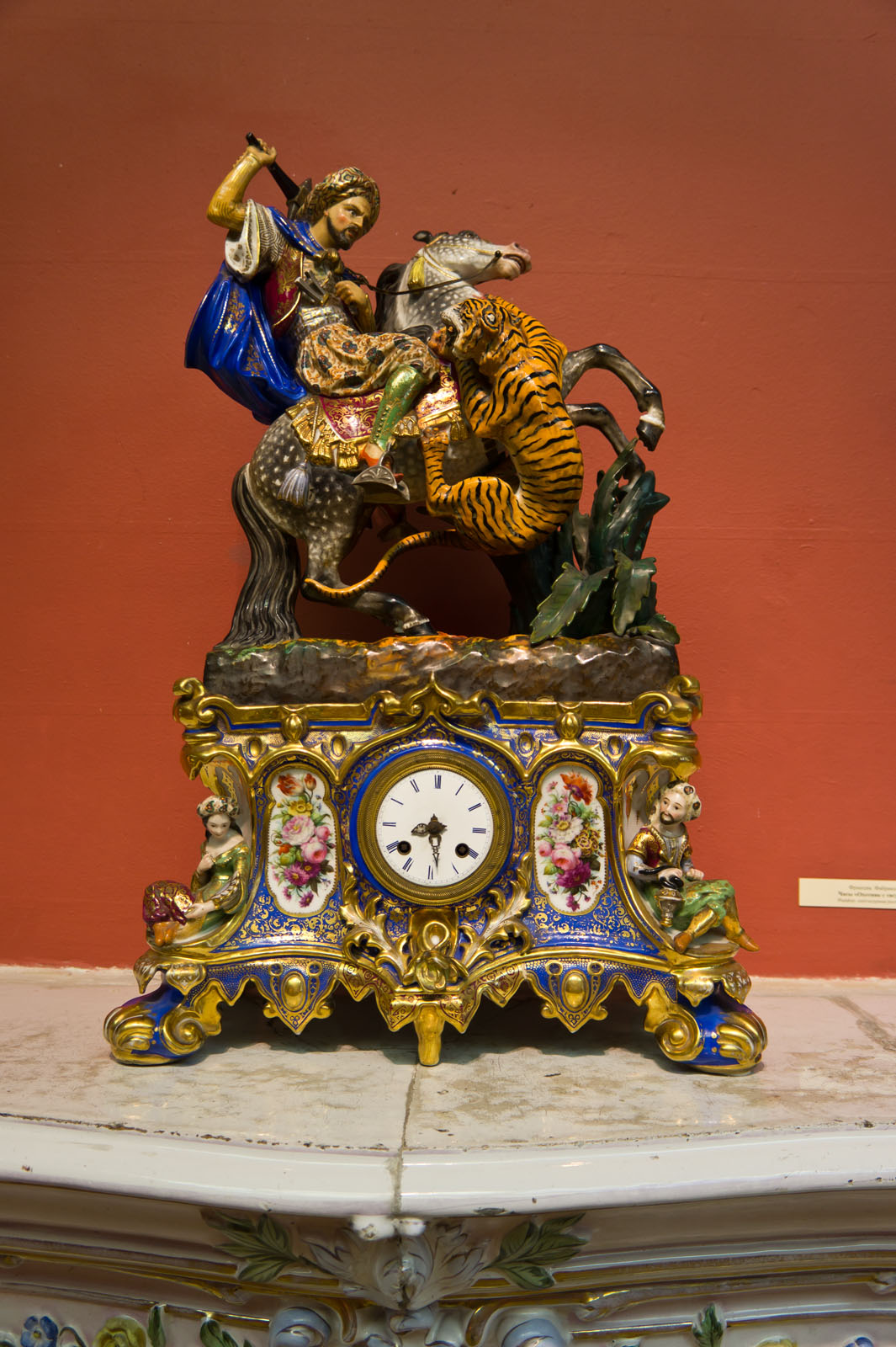 Фото №72551. Часы ''Охотник с тигром'', XIX. Франция, Фабрика Ж.Пети