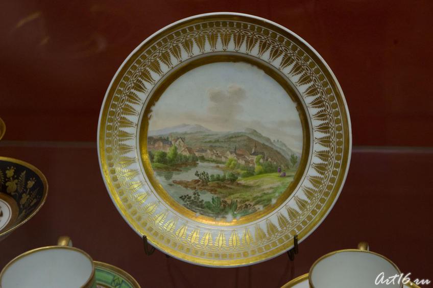 Фото №72621. Тарелка с изображением пейзажа. XIX . Париж