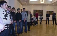 На открытии выставки Азама Атаханова