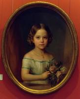Портрет девочки. Холст, масло. В.А.Голике