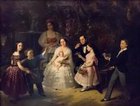 Портрет семьи И.П. Лесникова 1852 г. Холст, масло