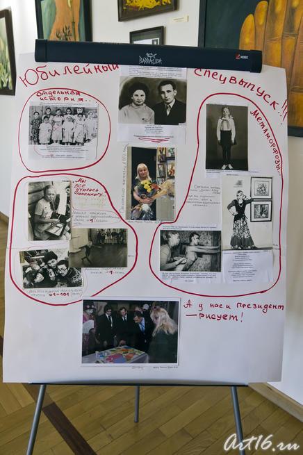Юбилейный выпуск стенной газеты, посвященныйй Миле Нуруллиной::Миля Нуруллина. Юбилейная выставка-2011