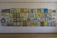 64 работы, написанные Милей Нуруллиной  в начале мастер-класса, за 60 минут, перед скоплением людей, комментируя...