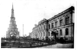 Башня Сююмбике и Губернаторский дворец в Казанском кремле