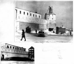 Юго-Восточная цилиндрическая башня. Реставрация после пожара в 70-х