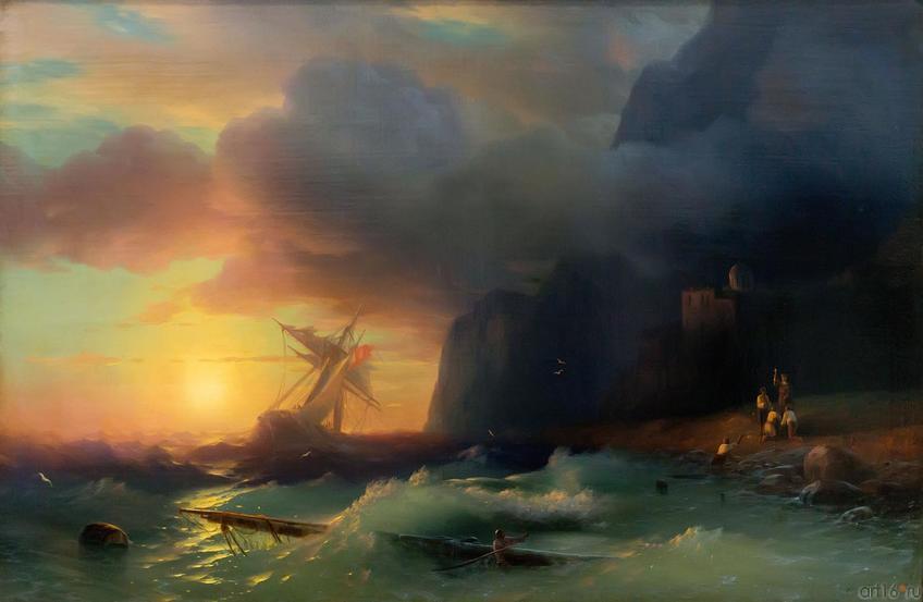 Фото №750691. Айвазовский Иван Константинович. 1817-1900 Кораблекрушение у Афонской горы. 1856