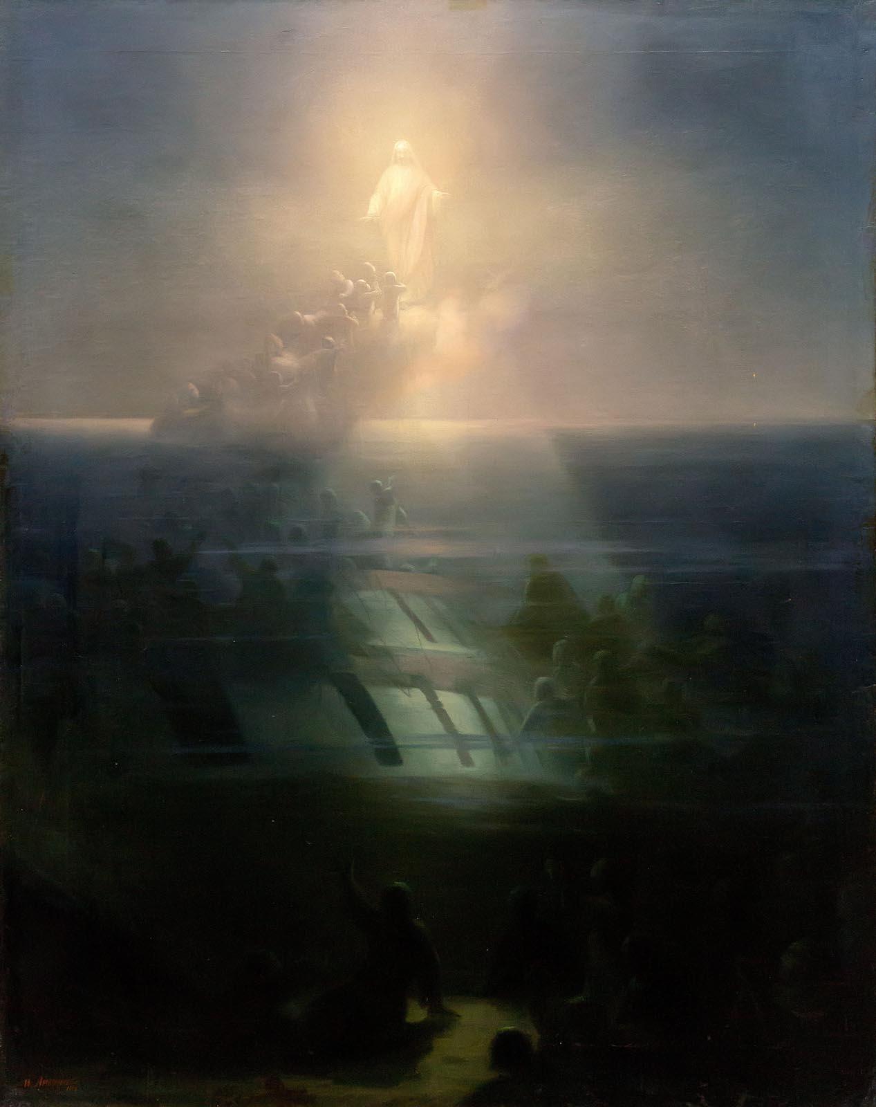 Фото №750697. Айвазовский Иван Константинович. 1817-1900 Гибель корабля «Лефорт». 1858