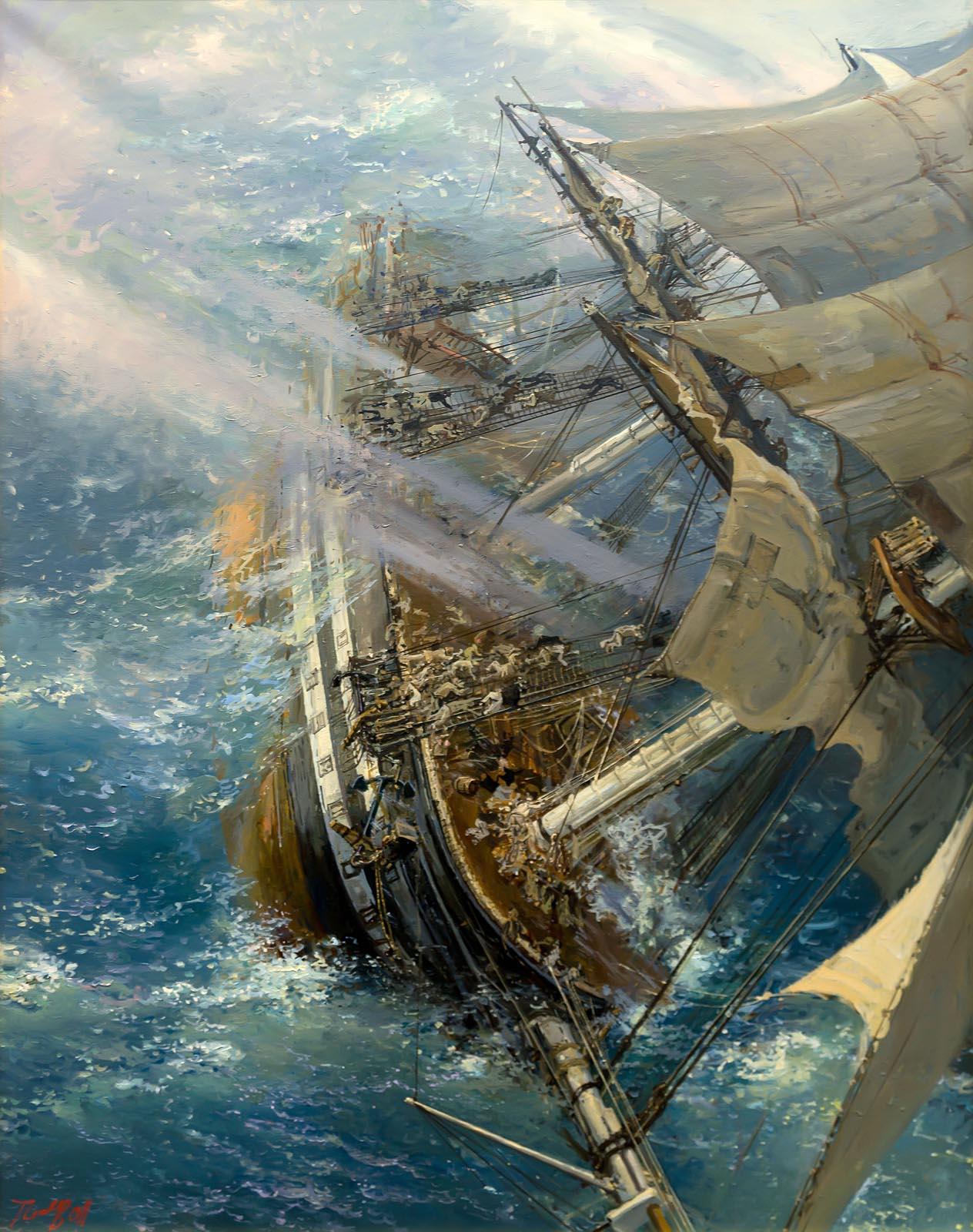 Фото №750709. Пен Сергей Варленович 1952 г. р. Гибель Опушечного корабля Лефорт 10 сентября 1837 года. 2011