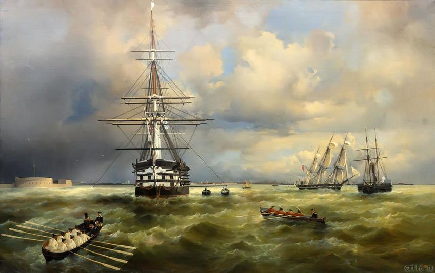 Фото №750721. Айвазовский Иван Константинович- 1817-1900 Кронштадтский рейд, 1838 (?)