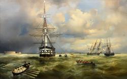 Айвазовский Иван Константинович- 1817-1900 Кронштадтский рейд, 1838 (?)