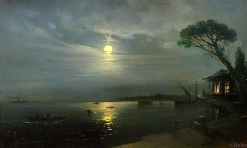 Фото №750739. Айвазовский Иван Константинович. 1817-1900 Лунная ночь. 1888