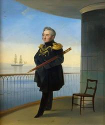 Айвазовский Иван Константинович. 1817-1900 Портрет вице-адмирала Михаила Петровича Лазарева. 1839