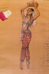 Эскиз костюма (Танец с фруктами), 1958, Л.Л.Сперанская-Штейн