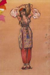 Эскиз костюма (Танец с кувшином), 1958, л.Л.Сперанская-Штейн