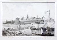 ТУРИН В.С. 1780-1834 ВИД КАЗАНСКОЙ КРЕПОСТИ Бумага, литография