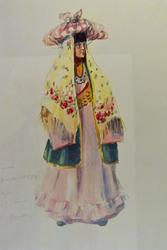 Эскиз костюма Джихан, 1953, Л.Л.Сперанская-Штейн