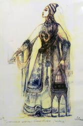 Татарская царица Сююмбика (эскиз) 1990-е гг, Л.Л.Сперанская-Штейн