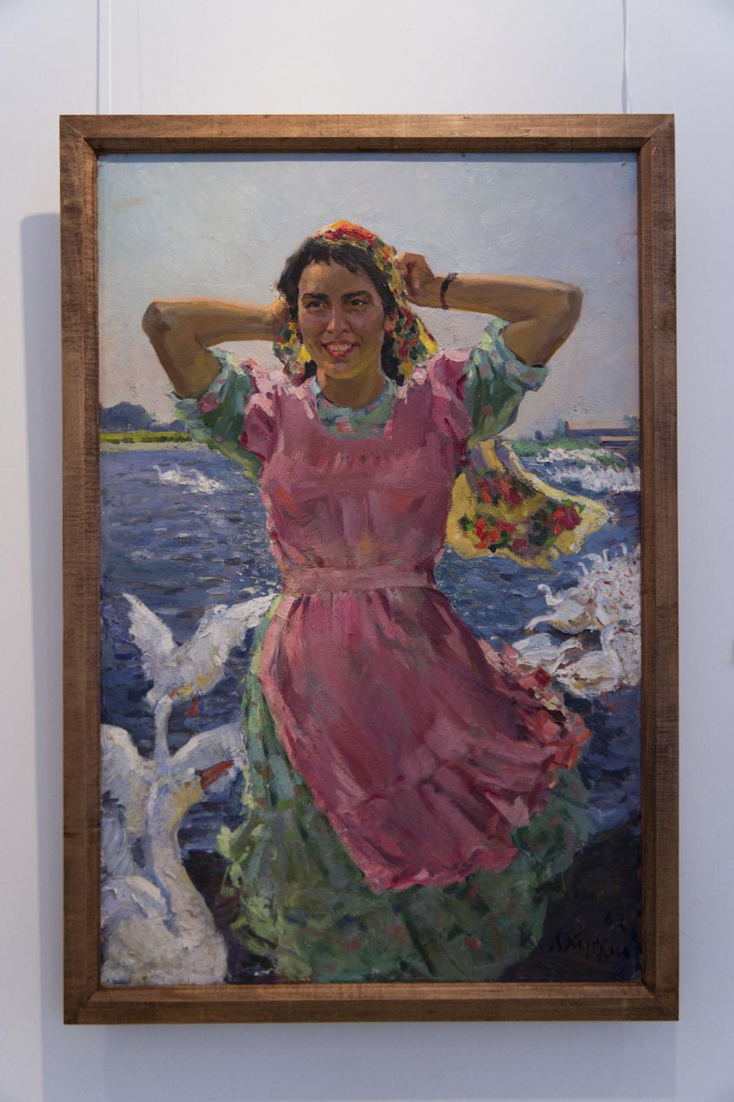 Фото №75661. «Птичница», портрет М.Валиевой, 1962, холст, масло