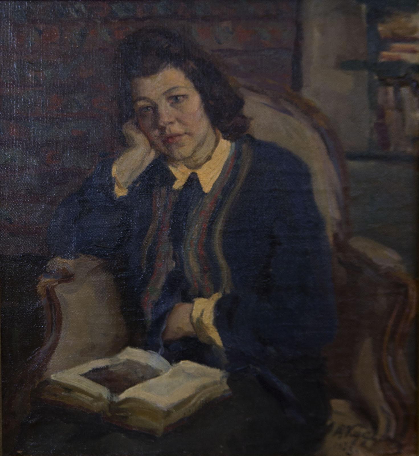 Фото №75681. Портрет жены Камы, 1953, холст, масло