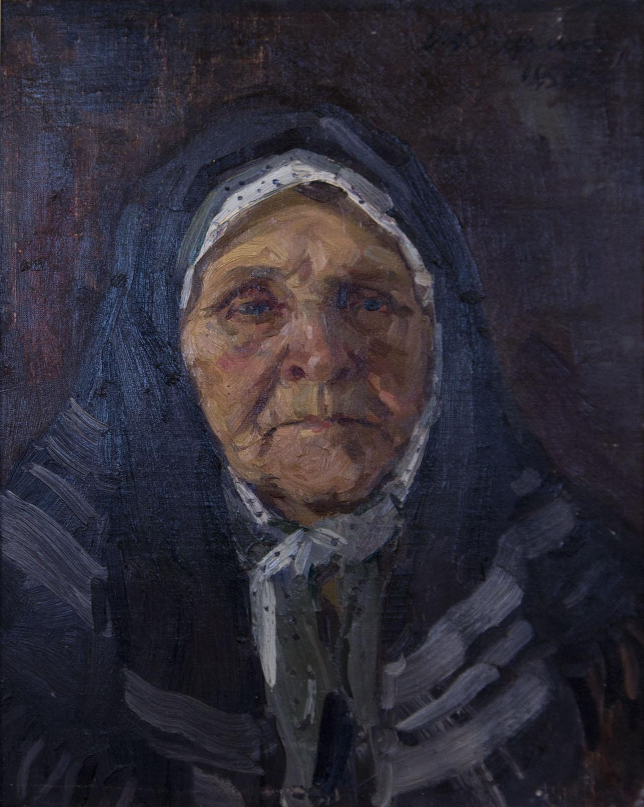 Фото №75691. Портрет матери, 1958, холст, масло