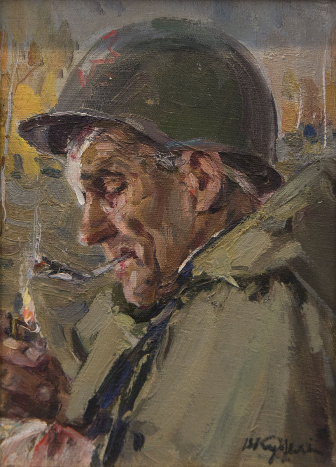 Фото №75721. Солдат, этюд, 1945, холст, масло