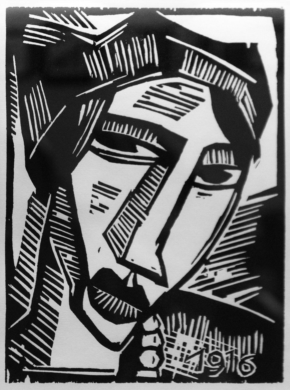 Фото №76507. Женская голова. 1916. Карл Шмидт-Ротлуф (1884-1976)
