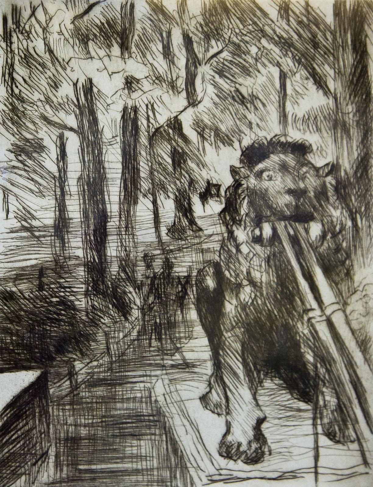 Фото №76522. Мост со львами в берлинском Тиргартене. 1919. Ловис Коринт (1858-1925)