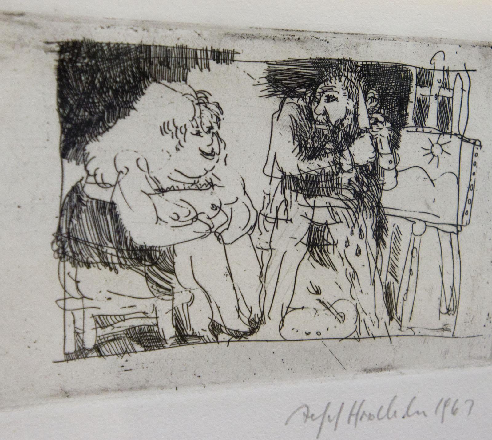Фото №76557. Ван Гог отрезает себе ухо. 1963. Альфред Хрдличка (1928-2009)