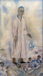 КИЛЬДИБЕКОВ Р.А. 1934 МАЛЬЧИК С КОЛОКОЛЬЧИКАМИ. 1999