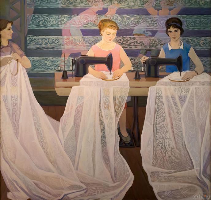 КИЛЬДИБЕКОВ Р.А. 1934 КРУЖЕВНИЦЫ. 1962 - 1964::Открытие юбилейной выставки Р.А. Кильдибекова