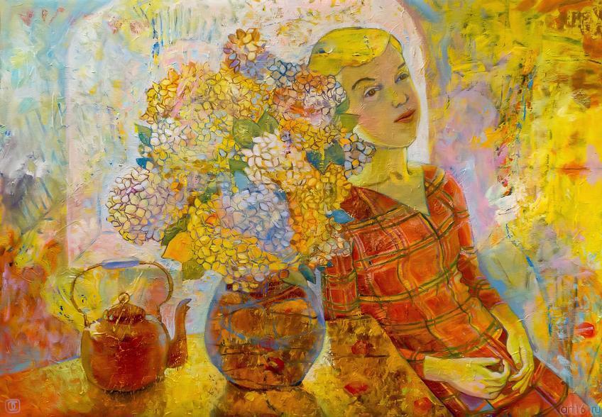 Гортензия. О.Сушкова::Полдень. Выставка Ольги Сушковой и Светланы Зайцевой
