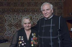 Екатерина Яковлевна Шугаева с сыном (Владимиром Ивановичем)