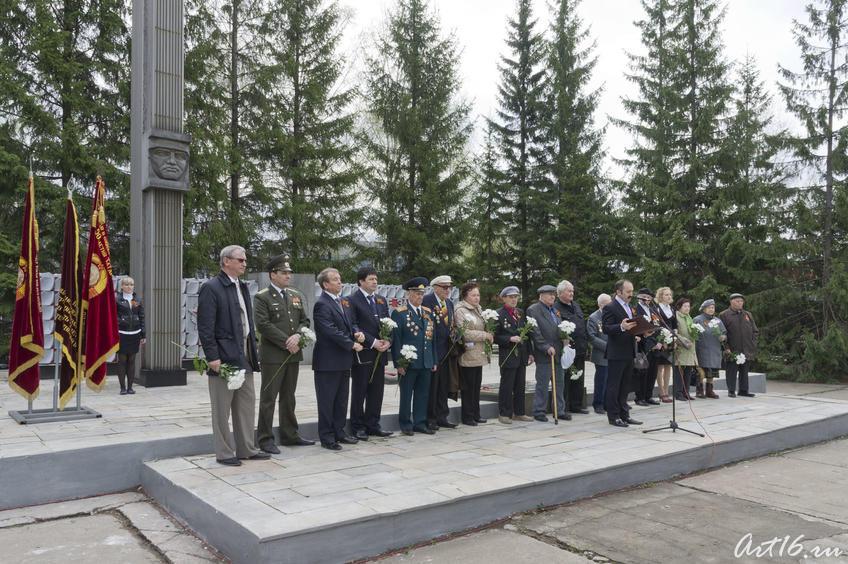 Митинг, посвященный Дню Победы, у стелы Победы на Казанском вертолетном заводе