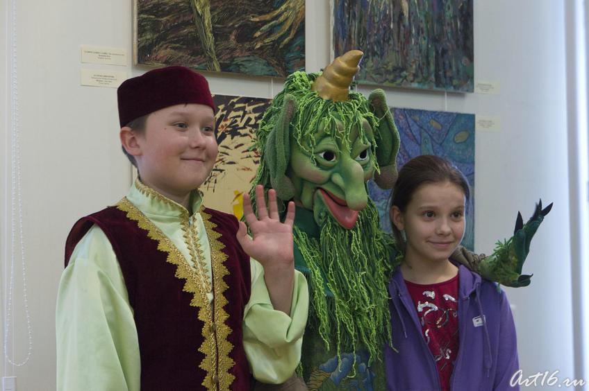 Фото №77919. Герои татарских сказок на открытии выставки ''Шурале и Я''