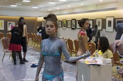 Эксцентричное шоу-конкурс «Body-Art Battle» в Манеже