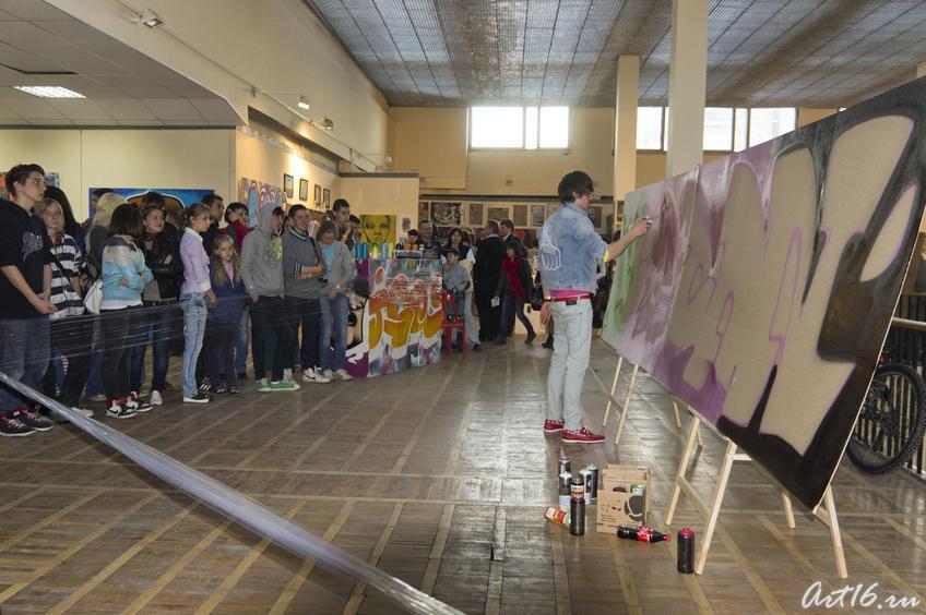 Фото №78099. Граффити в Выставочном зале ГМИИ РТ